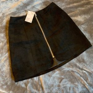 Black Zip-up H&M Skirt
